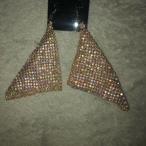 BRAND NEW!!  LARGE Mesh Earrings